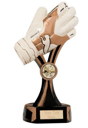 Resin Goal Keeper Glove Football Trophy