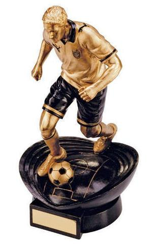 Resin Gold Puma Stadia Glactico Football Trophy