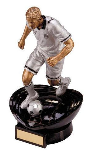 Resin Silver Puma Stadia Glactico Football Trophy