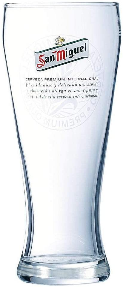 San Miguel Tall 1 pint Glass Personalised | County Engraving