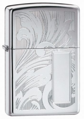Scroll Design V panel Zippo Lighter