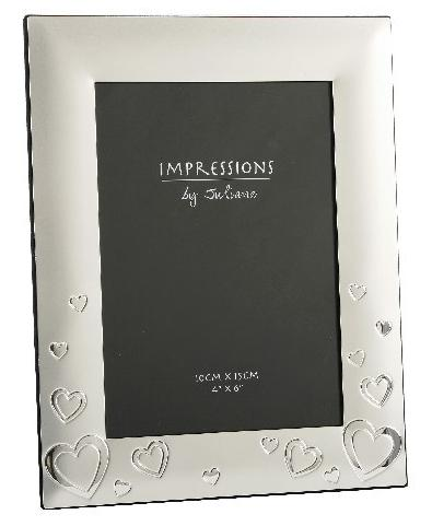 Silver Hearts Romantic Photo Frames Personalised