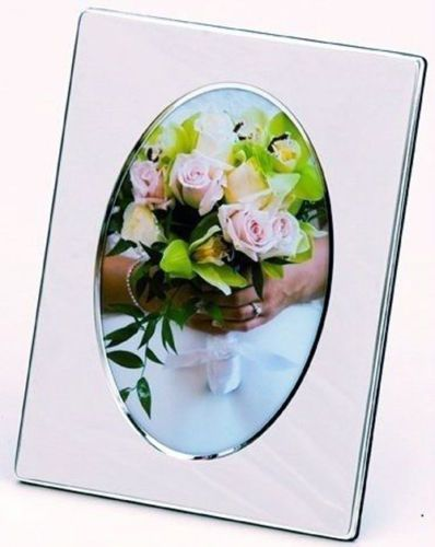 Silver Plated Oval Bevelled Photo Frame Personalised