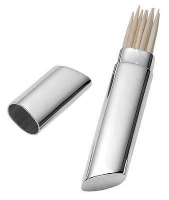 Silver Plated Slim Toothpick Holder Personalised