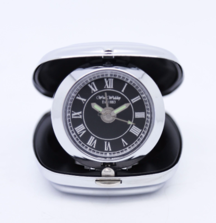 Silver Plated Travel Alarm Clock Personalised | County Engraving
