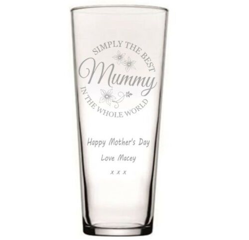 Simply the Best Conical Glass Flower Vase  Personalised | County Engraving