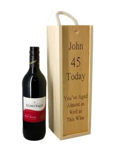 Single Wine/Spirit Box Personalised