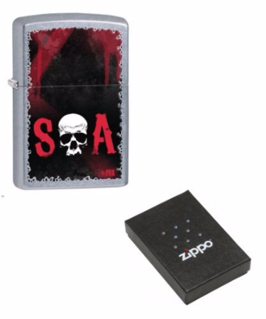 Sons of Anarchy SOA Zippo Lighter Personalised