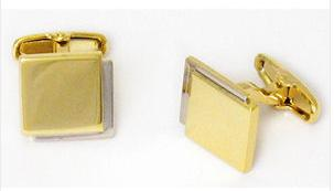 Square Gold and Silver Cufflinks Personalised