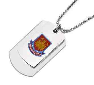 Stainless Steel West Ham Double Army Tags