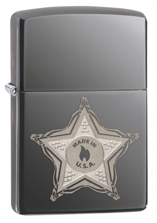 Star and Skull Badge Zippo Lighter Personalised