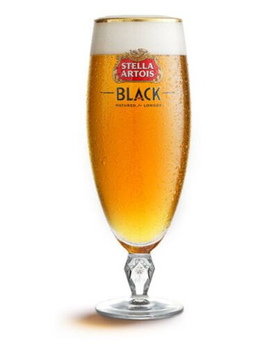 Stella Artois Black Pint Chalice Personalised | County Engraving
