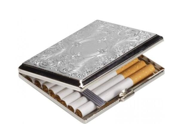 Swirl Design Cigarette Case Personalised County Engraving