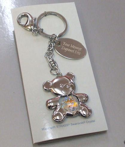 Teddy Keyring with Swarovski Crystal Personalised