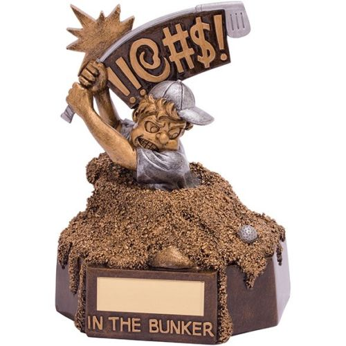 The Comical Outrageous In The Bunker Golfer | County Engraving