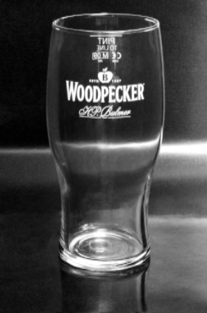 Woodpecker 1 Pint Cider Glass Personalised