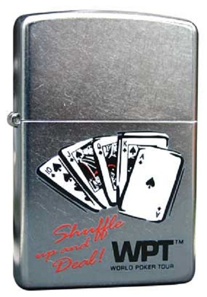 World Poker Tour Zippo Lighter and Card Set Personalised